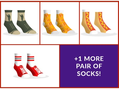 Dollar Socks Box - 5 Pairs of Socks For Women - YT