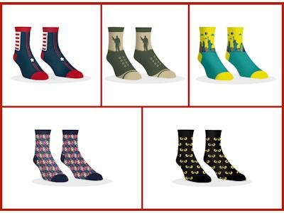 Dollar Socks Box - 5 Pairs of Socks For Men - YT