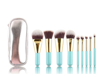 9 pcs Travel Makeup Brush Set -1075509355