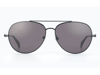 Chevron Black Aviator Sunglasses