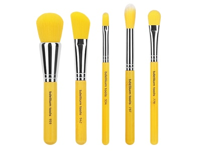 Bdellium Tools - Yellow Bambu Line - Mineral 5 pc Brush Set
