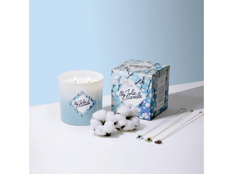 My Jolie Candle Bougie Collier Fleur De Coton Octoprime Co