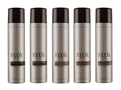 TOPPIK Colored Hair Thickener, Light Brown, 5.1 oz.