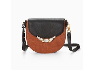 Two-Tone Saddle Bag