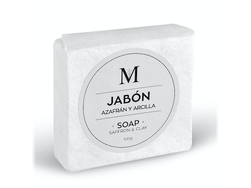 Jabón natural de arcilla blanca y azafrán