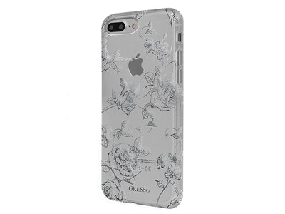 OLD_Harmony Collection iPhone 7+  Silver Roses Snap On Case