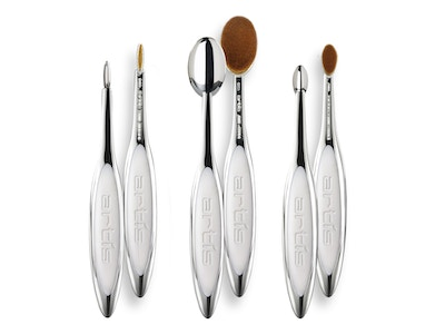 Elite Mirror Special 3 Brush Set + Brush Cleaning System
