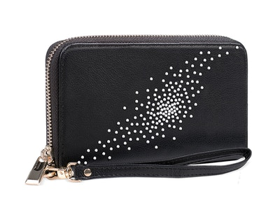 OLD_Constellation in Black Clutch/Wallet