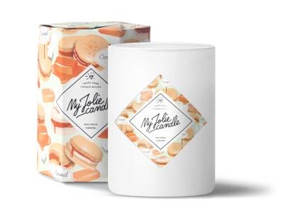 bougie-bijou Macaron Caramel–Anillo Talla 56