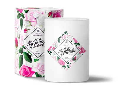 Vela-Pendientes | Perfume Rosa