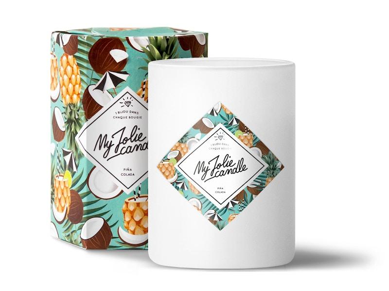 Vela-Pendientes | Perfume Piña Colada