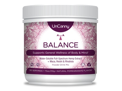 BALANCE: General Wellness Drink Blend | CBD Hemp Extract + Adaptogens Maca, Reishi, & Rhodiola