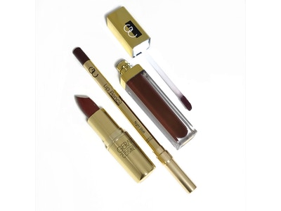 3 Pack - Cherry Cordial Gold bullet lipstick, Night Shift lip pencil & Seduction lip gloss