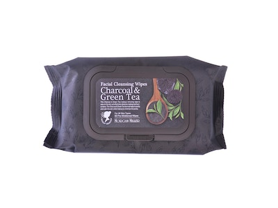 Charcoal & Green Tea Facial Cleansing Wipes